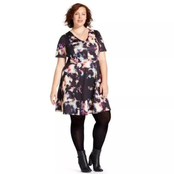 bdefec402abce Ava & Viv Dresses | Ava Viv Abstract Floral Print Dress 3x Nwt ...